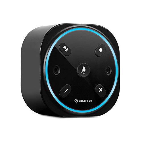 auna Intelligence Plug Wireless - Steckdosenradio, Steckdosen-Lautsprecher, Internet-Radio für Bad, Alexa-VoiceControl, Spotify Connect, Bluetooth, 2 W RMS, bis 30 m WLAN Reichweite, schwarz