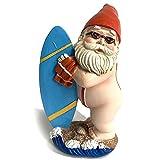 Gartenzwerg Statue Zwerg Surf Schwimmen Figuren Ornamente Lustige Zwerg und Surfbrett Skulptur für Haus Garten Hof Terrasse Outdoor Dekoration Geschenk