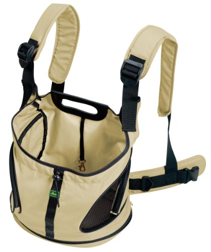 HUNTER KANGAROO Rucksack/Tragetasche, Hundetragetasche, Bauchtasche, kleine Hunde, Welpen 30 x 20 x 30 cm, beige