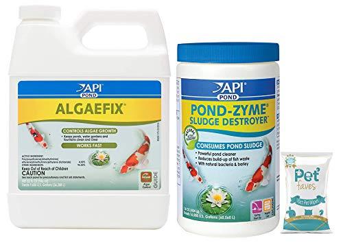 API Pond Algaefix 32oz and Pond-Zyme Sludge Destroyer 16oz