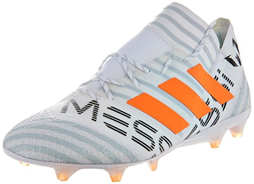 adidas Herren Nemeziz Messi 17.1 Fg Fußballschuhe, Ftwbla Narsol grau_tra, 41 1/3 EU