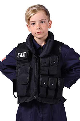 SWAT Kostüm Kinder I Deluxe I hochwertige Weste für Jungs I Einheitsgröße