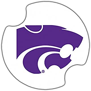 Thirstystone Kansas State University Car Cup Holder Coaster, 2-Pack