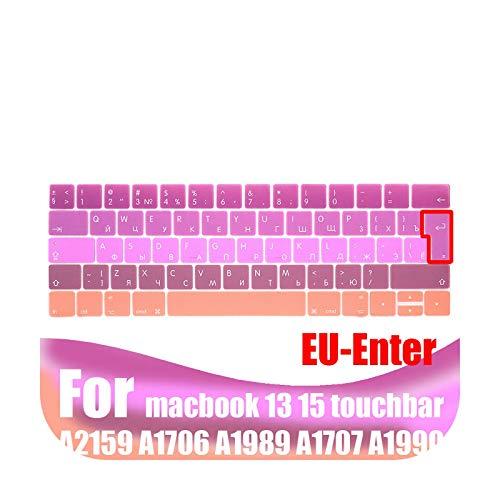 Funda para teclado para portátil MacBook Pro13 de 15 pulgadas touchbar A2159/A1706/A1707/A1989/A1990 modelo EU 11