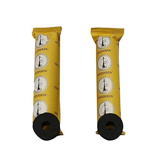 COCOYAYA Bamboo Polo Quick Light Hookah Charcoal (20 Disks, 2 Rolls)