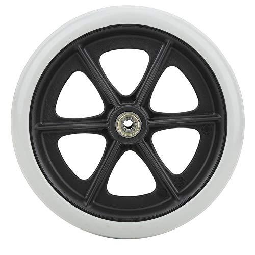Ruedas delanteras para sillas de ruedas, rueda delantera de 8 pulgadas, ruedas de goma antideslizantes para discapacitados, ruedas de repuesto para sillas de ruedas, andador, andadores