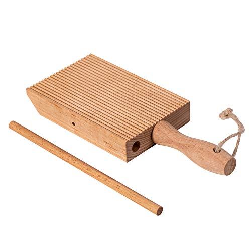 Yueshico Natürliches Gnocchi-Boards Paddel – Buchenholz Quick Gnocchi Stripper und Paddel einfach authentische hausgemachte Nudeln und Butter ohne zu kleben