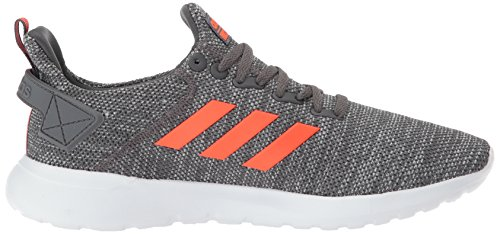 adidas Men's Lite Racer BYD Running Shoe, Grey Five/Solar red/White, 10.5 M US