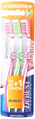 Dr. Best Interdent Aktiv Mittel,für eine gründliche Reinigung der Zahnzwischenräume mit Spezialborsten, 2+1 Stk.