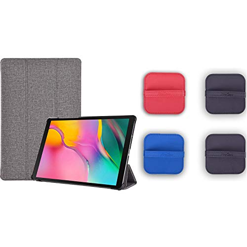ProCase Folio Case for Galaxy Tab A 8.0 2019 T290 T295 Bundle with 4 Pack Screen Cleaning Pad Cloth Wipes for iPad, iPhone, MacBook, Tablets, Laptop Screen, Touch Screen Devices