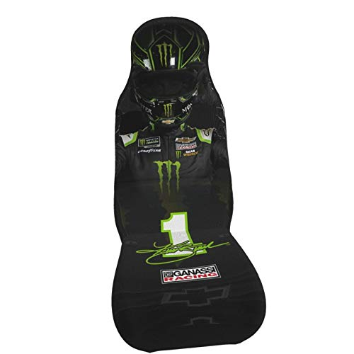 Eugenee Kurt Busch Nascar Car Seat Covers,Automotive Seat Covers,Flat Cloth Fabric Car Seat Cover,Easy to Install,Nonslip,Winter Warmer - Heated,Universal Fit Fit Most Car, Truck,Van,SUV (Black)