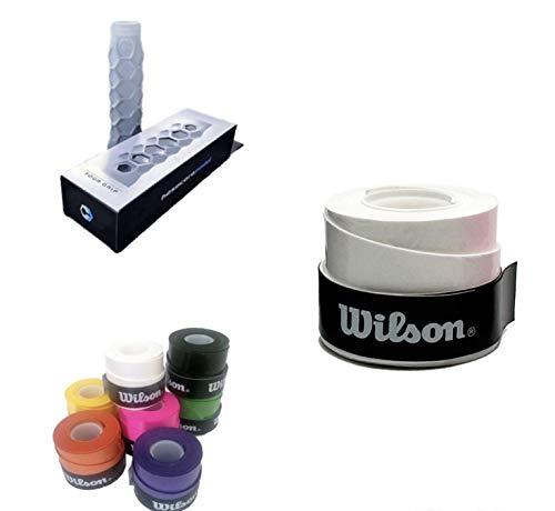 ZRZ Pack Grip Padel HESACORE Tour Grip + 1und overgrip Wilson Confort Blanco
