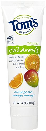 Tom's of Maine Anticavity Children's Toothpaste, Outrageous Orange-Mango, 4.2-Ounce by Tom's of Maine