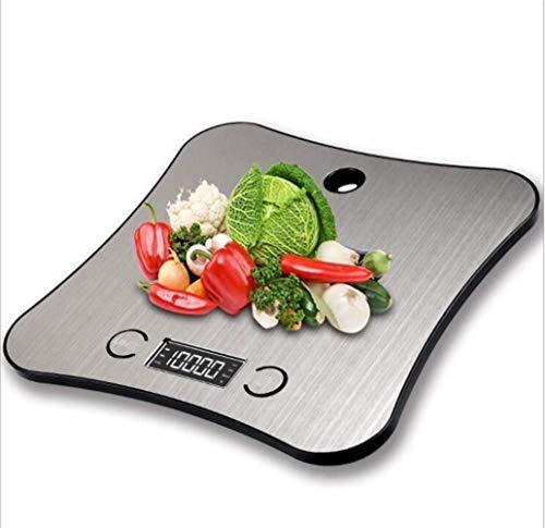 Digitale multi purpose keuken en voedselschaal met nieuwe chassis-ontwikkeling designontwikkeling, platform grote roestvrij staal voor het koken en koken (11 lbs/5 kg capaciteit, 0,05 oz/1 gram
