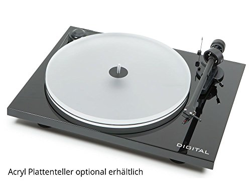 Pro-Ject ESIIDIGBLK Essential II Digital Turntable with Ortofon OM 5E Cartridge (Black)