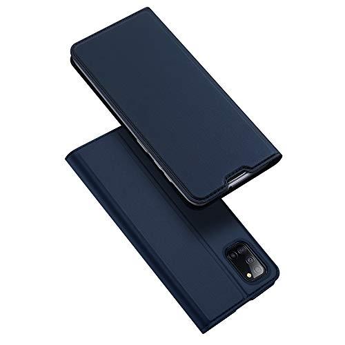 DUX DUCIS Hülle für Samsung Galaxy A31, Leder Klappbar Handyhülle Schutzhülle Tasche Hülle mit [Kartenfach] [Standfunktion] [Magnetisch] für Samsung Galaxy A31 (Blau)