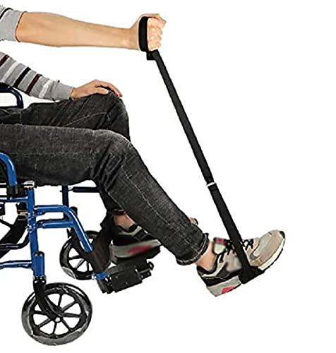 summerr Bein Gurt Oberschenkelheber, Starrer Beinheber mit Hand- und Fußschlaufenhilfen für Senioren, Handicap und Behinderung, für Rollstuhl, Bett, Auto, Couch 1 Paar