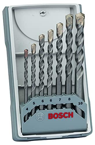 Bosch Professional 7pzs. CYL-3 brocas para hormigón Set, para hormigón, Diámetro 4/5/6/6/7/8/10mm, accesorios taladro percutor