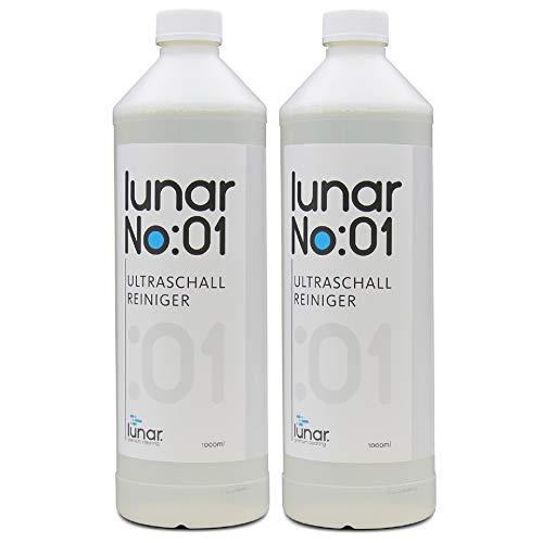 lunar. premium cleaning No:01 Ultraschallreiniger 2 Liter Konzentrat für Ultraschallreinigungsgerät Ultraschallbad Brillen Metalle Schmuck Dentalprodukte Glas