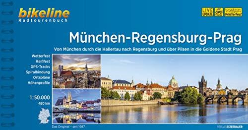 München-Regensburg-Prag Radfernweg: 1:50.000, 474 km, wetterfest/reißfest, GPS-Tracks Download, LiveUpdate (Bikeline Radtourenbücher)