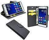 ENERGMiX Elegante Bolsa Libro para LA Xiaomi Mi4 en Negro Efecto Cuero Monedero Libro - Estilo