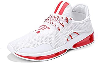 FYXKGLa Summer New Casual Sports Shoes Men's Breathable Feet Running Shoes Street Fashion Men's Shoes (Color : Red, Size : 39EU)