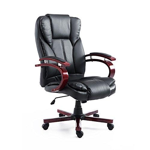 HOMCOM Bürosessel Bürostuhl Drehstuhl Chefsessel Sessel Schreibtischstuhl Stuhl Büro (schwarz)