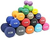 Xn8 Neoprene Dumbbells Hand Weights Dumbells | For Home-Gym-Exercise-Fitness-Training-Weight Lifting-Body Building-Muscle Toning-Dmbel-Pink(1 * 2=2kg)