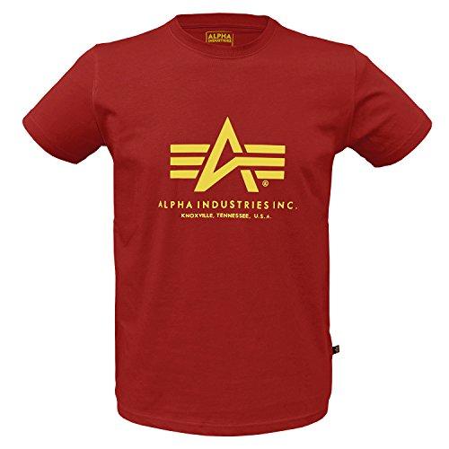 Alpha Ind. Basic T-Shirt Speed Red - XL