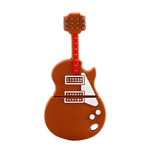 32 GB USB 2.0 Flash Drive Cartoon Music Brown forma di violino Pendrive Memory Stick USB Thumb Drive