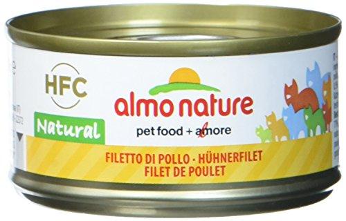 Almo Nature HFC Natural Katzenfutter nass -Hühnerfilet 24er Pack (24 x 70g)