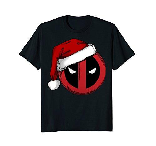 Marvel Deadpool Icon Santa Hat Christmas Graphic T-Shirt