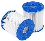 HHDL Cartucho de filtro de piscina, para cartucho de filtro para Bestway tipo I para piscinas, mantiene tu agua segura y limpia. (2/4 unidades) (2 unidades)