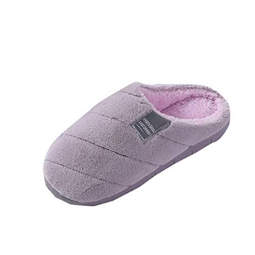 DAY8 Unisex Pantofole Antiscivolo Ciabatte Inverno Pantofole Donna Peluche Ciabatte Casa Donna Pelose Invernali Scarpe Casa Donna Invernale Caldo Taglie Forti (Viola, 36 EU)
