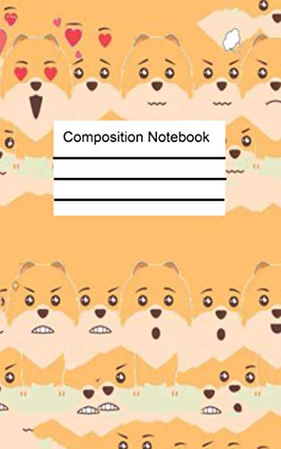 Cute Pomeranian Dogs Wide College composition Note book: Cute Pomeranian Dogs With Hearts Pattern Blank Lined Journal To Write In For Notes, Ideas, ... ... Men, Teens & Kids Who Love Pomeranian Dog