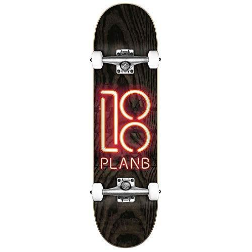 Plan B Team Neon Sign Factory - Skateboard completo, 8 pollici