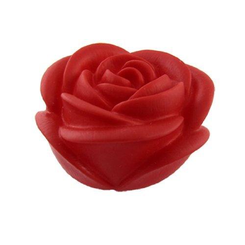 Noche DealMux LED de la flor de Rose de la lámpara de escritorio de la luz roja de la decoración