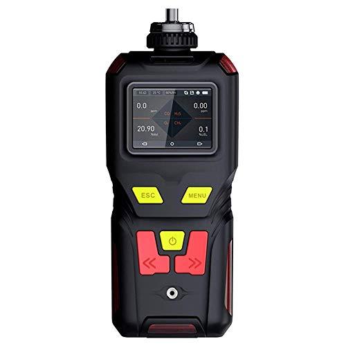 4-en-1 Multi detector de gas del monitor USB portátil detector de fugas de monóxido de carbono de carga analizador de gases con Digital Pantalla LCD de sonido se enciendan las alarmas de vibración yqa