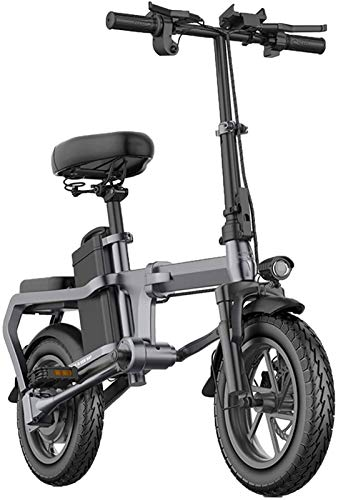 Electric Bikes, Folding Electric Bikes for Adults Aluminum Alloy 14In City E-Bike with 48V Removable Large Capacity Lithium-Ion Battery without Chain Lightweight Mini Electric Bicycle for Unisex,60Km