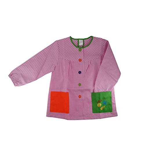 Kiz Kiz Bata Escolar Infantil Multicolor Baby Infantil de Cuadros - (4-5 años, Rosa)