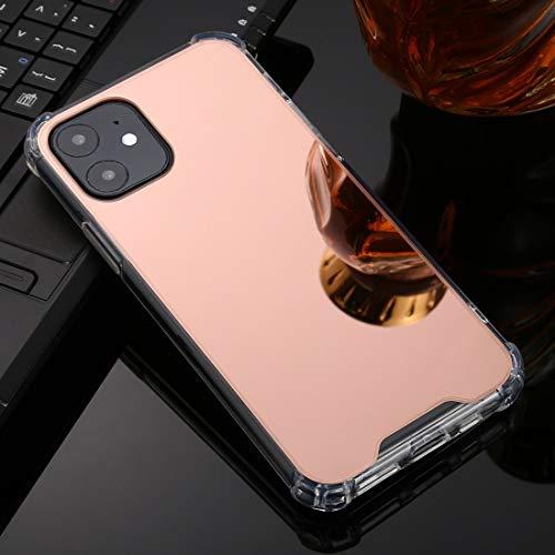 Tangyong voor iPhone 11 Pro TPU + acryl vier druppels plating spiegel telefoonhoesje cover (Rose Gold), ZILVER