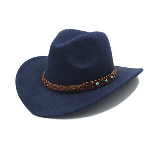 JDON-HAT Dames/heren Fedora 100% wol Cowboy Spring Hat brede Jazz Jazz met Cape Toca lederen hoed voor mannen vrouwen