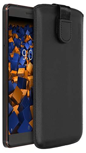 mumbi Echt Ledertasche kompatibel mit Nokia 6 2018 Hülle Leder Tasche Hülle Wallet, schwarz