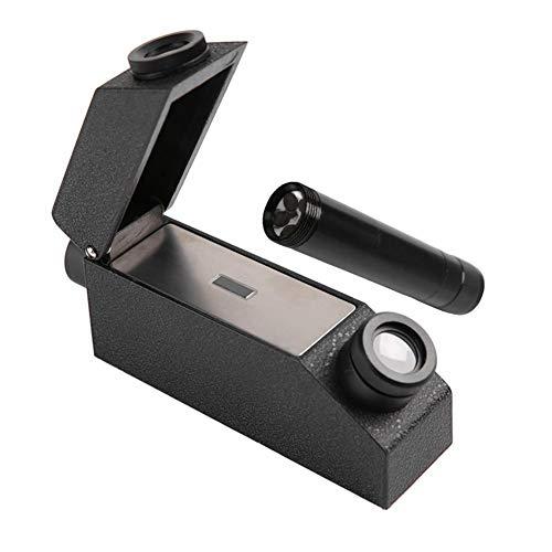 Edelsteine Refraktometer, Tragbarer Gem Refraktometer mit Taschenlampe (Messbereich: 1,3-1,81 RI), zur Identifikation von Losen Edelsteine, Jadeit