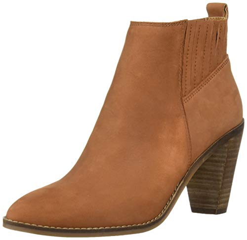 Lucky Brand Women's NESLY Ankle Boot, Whiskey, 9 M US
