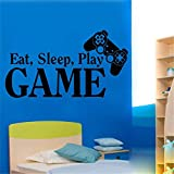 autocollant mural stickers muraux 3d Décor de jeu vidéo Stickers Jeu Eat Sleep Jeu Ps3 Ps4 Citation de jeu Stickers Art Décor Room Room Home