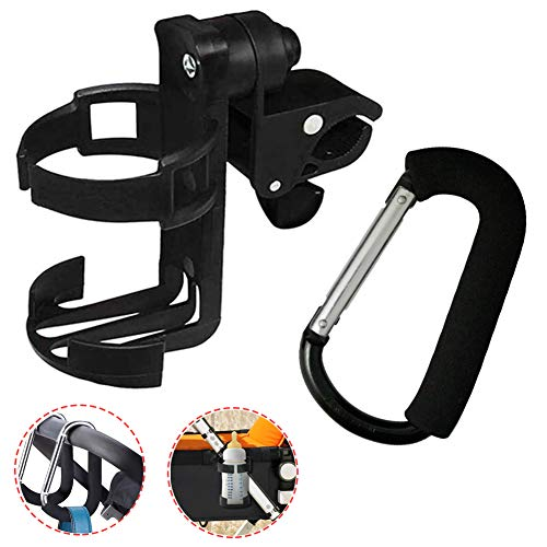 DUPOINT Cup Holder,Stroller Cup Holder,Bike Cup Holder,Drink Holders,360 Degrees Rotation,Wheelchair Walker Bottle Holder,Convenience Store Cups and Bottles