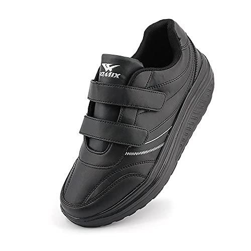 JOMIX Scarpe Casual Donna con Strappo Scarpe da Camminata Basculanti Snearkes Antiscivolo da Donna Fitness Corsa Sportive Ginnastica SD2656 (Nero, 39)