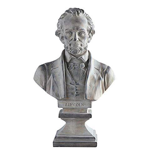 Mnjin Decoracin del hogar Estatua de Lincoln, Abraham Lincoln Figurilla Busto del Presidente Figura Souvenir Escultura Decoracin Ventana Decoracin Artesanas