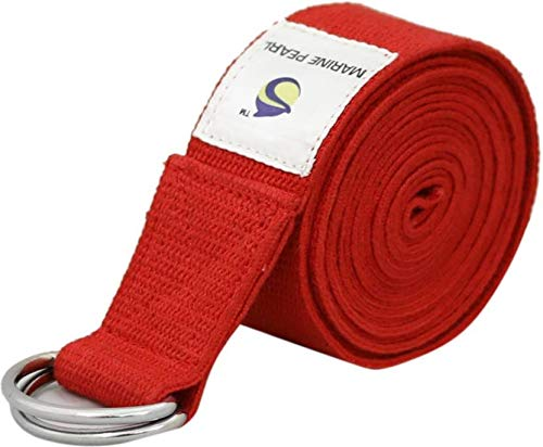 Marine Pearl 8ft Heavy Duty Cotton Anti Sweat Yoga Strap for Stretching